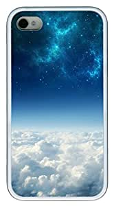 iPhone 4 4s Cases & Covers - Cosmos Above White Clouds Custom TPU Soft Case Cover Protector for iPhone 4 4s - White