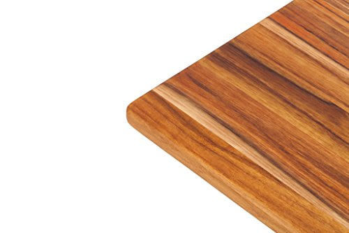 Teak Cutting Board - Rectangle Board With Hand Grip And (20 X 15 Juice)