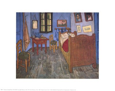 The Bedroom at Arles, c.1887 Art Poster Print by Vincent van Gogh