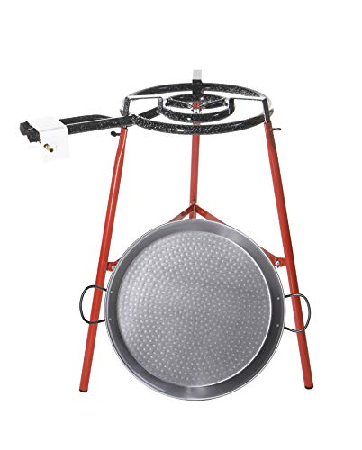 Castevia Complete EcoSet Polished Steel Paella Pan 18-Inch 46cm up to 12 servings + Paella Gas ()