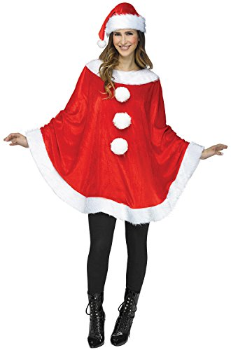 Fun World Santa Poncho Adult Costume-Standard - Christmas Holiday Costumes Women