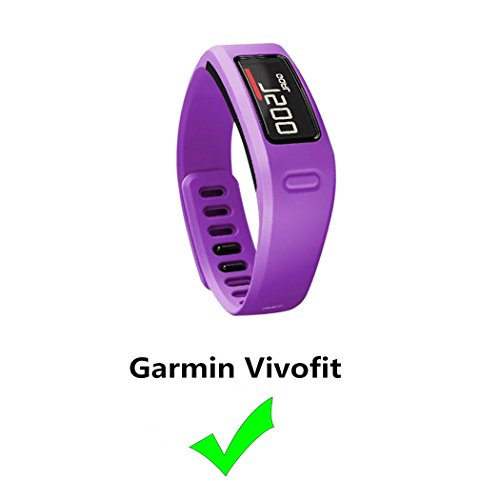 Replacement Fitness Wristband Band for Garmin Vivofit Replacement Strap Bands S L Small Lager Size,NOT for Garmin Vivofit 2/3/JR/HR(No Tracker) (Purple, ()