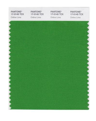 PANTONE Smart 17-0145X Color Swatch Card, Online Lime
