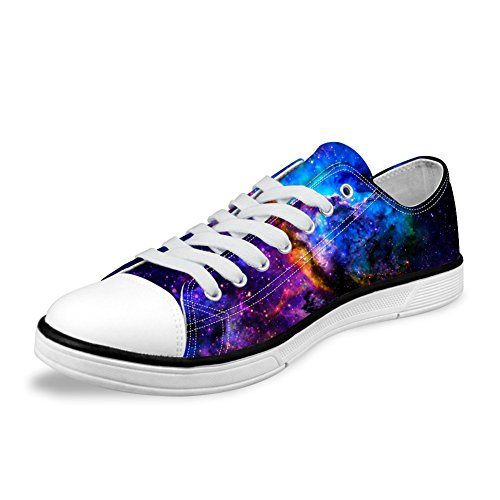 Flat DESIGNS Galaxy Sneaker Low 4 FOR Unisex Shoes Print up Fashion U Top Lace Galaxy Canvas Casual Stylish 6qaaSHx5