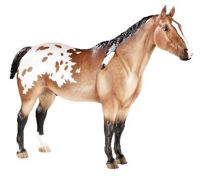 Breyer Appaloosa Indian Pony- Plastic Horse with spotted blanket and feathers in its mane- Collector's favorite and suitable for children 8 years and Up- Toy figure perfect Christmas goft for boys and girls (Spotted Pony Horse)