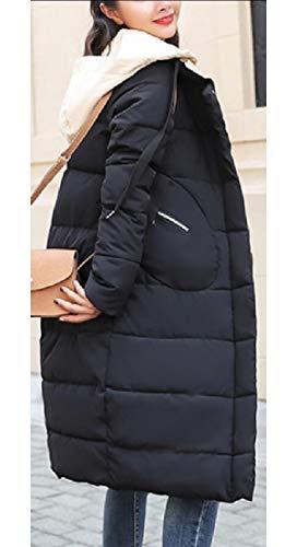 Zipper Black Jacket Overcoat Warm TTYLLMAO Winter Thicken Fashion Down Long Women qpnSw4x0