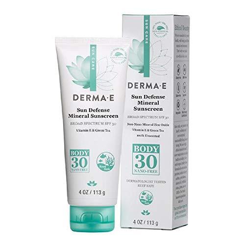 Derma-E Sun Defense Mineral Oil-Free Sunscreen SPF 30 Body, 4 Ounces
