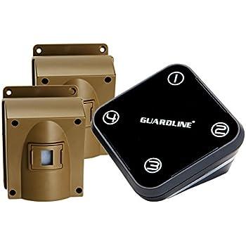 Amazon Com Guardline Wireless Driveway Alarm W Two