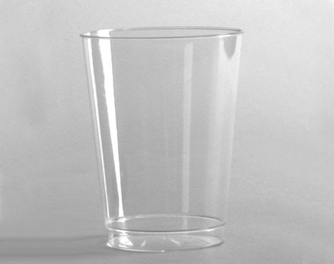 ChefLand 8 Oz. Crystal Clear Heavyweight Plastic Squat Tumblers Party Cup - 20 Count