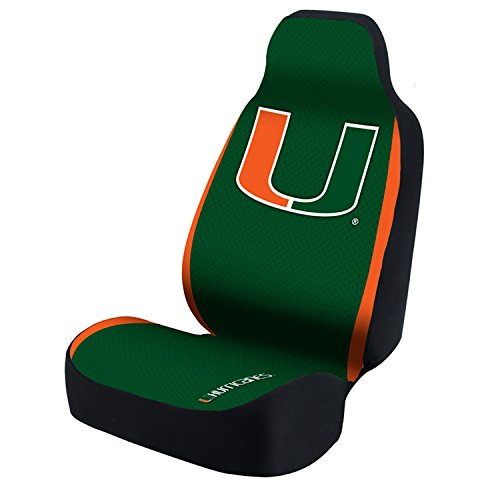 Coverking USCSELA069 University of Miami Bucket Seat Cover (Collegiate 50/50) Universal Fit (Miami Covers Seat)