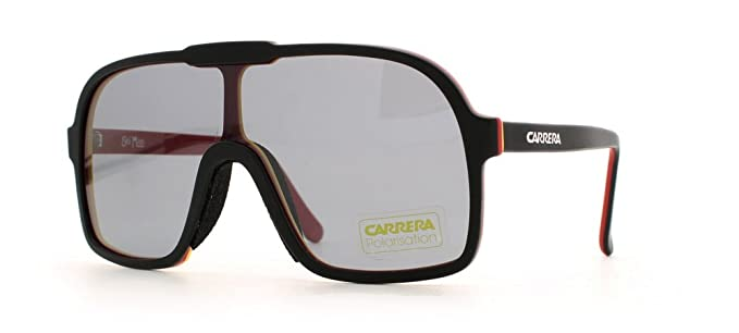 d1bf6d3352c Carrera 5530 Black Black and Red Authentic Men - Women Vintage Sunglasses
