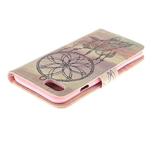 Apple iPhone 7Sac étui Cover Case de protection Attrape-rêves Multicolore decui Multicolore Housse en simili cuir