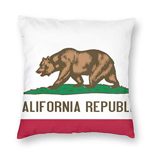 (US Flag of California Square Pillowcase 12