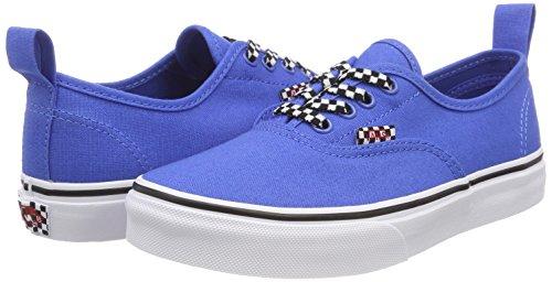 Bleu Baskets Authentic Elastic Lace Lace Enfant check Vans Mixte tqY11d