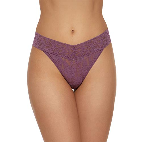 (Hanky Panky Signature Lace Original Rise Thong Panty, Valiant Purple)