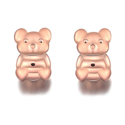 Bax Bear - AOLVO Earrings Lifters, Bear Shape Adjustable Safety Locking Stud Earring Back Support