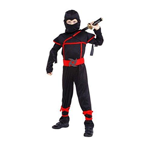 MARIAN Halloween Costume Child's Ninja Warrior Costumes( black) (Quick Halloween Costume Ideas For Boys)