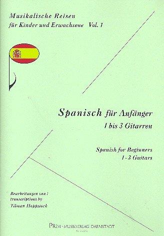 Español para principiantes: para 1 - 3 guitarras Partitura y Voces ...