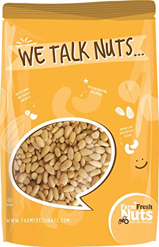 Farm Fresh Nuts Whole Pine Nuts Pignolias Raw Natural Shelled (1 LB)