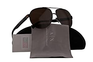 Armani Exchange AX2022S Sunglasses Matte Brown w/Brown Lens 609873 AX 2022S