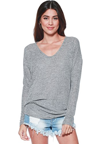 Merino Turtleneck Sweater Dress (A+D Womens Thin Dolman Sleeve Knit Pullover Sweater Top (S-XL) (Grey,)