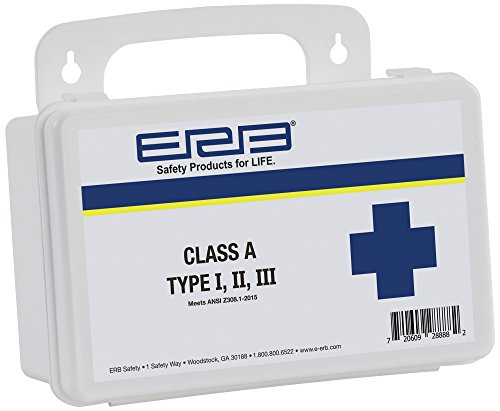 ERB 28888 First Aid Kit Class A Type I, II, III with Plastic Case by ERB