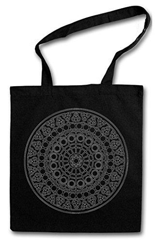 MANDALA VIII Hipster Shopping Cotton Bag Cestas Bolsos Bolsas de la compra reutilizables �?Budismo Hinduismo Inde Yantra