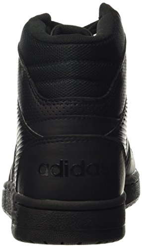 adidas Vs Hoopster Mid W, Zapatillas de Deporte para Mujer Negro (Negbas / Negbas / Negbas)
