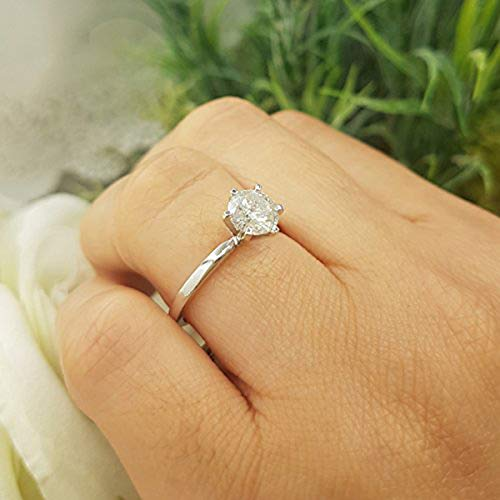 d2fd2d0f6 Dazzlingrock Collection IGI Certified 1.07 Carat (ctw) 14K Real Round  Diamond Ladies Engagement Solitaire