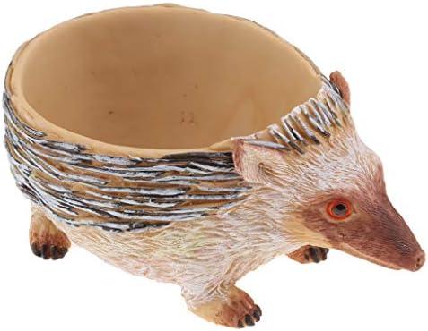 ミニ 植木鉢 ハリネズミ形 可愛い 多肉植物用ポット 樹脂 約16.5 x 10 x 6.2 cm