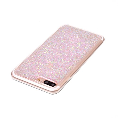 MXNET IPhone 7 Plus Case, Glitzer Powder Soft TPU Schutzhülle CASE FÜR IPHONE 7 PLUS ( Color : Pink )