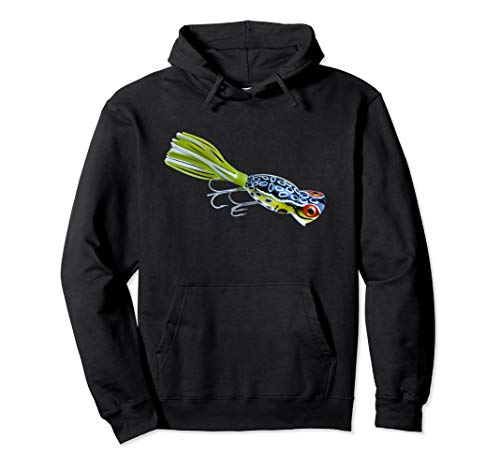- Vintage Hula Popper Topwater Lure Bass Frog Hoodie Shirt NEW
