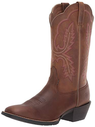 - Ariat Women's Women's Hybrid Rancher Crossfire Western Boot, Distressed Brown, 7.5 C US