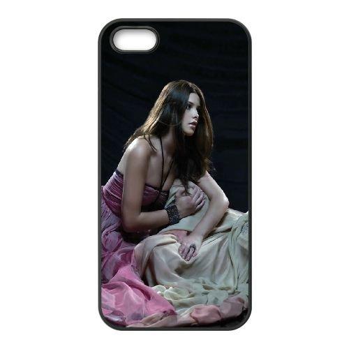 Girls Dress Brunette Blonde Model coque iPhone 4 4S cellulaire cas coque de téléphone cas téléphone cellulaire noir couvercle EEEXLKNBC25417