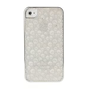 Skull Pattern Plastic Case for iPhone 4/4S --- COLOR:Silver