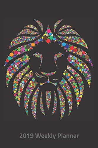 Plan On It 2019 Weekly Calendar Planner - Kaleidoscope Rainbow Lion: 14 Month Pocket Appointment Notebook (King Stationary Lion)