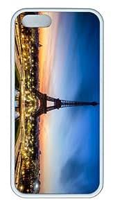 designer cases eiffel tower paris hd TPU White Case for iphone 5/5S