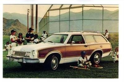 1977 Pinto Squire Wagon Postcard FORD ()