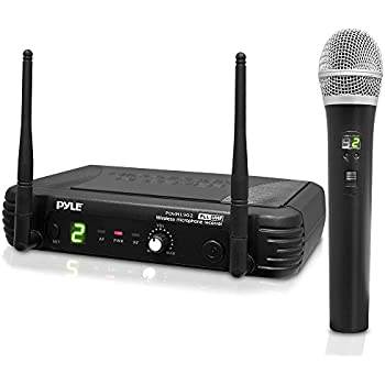 Pyle Pro Premier Series UHF Digital Wireless Portable Microphone System with 8 Frequency Channel, XLR Output, Handheld Mic, Receiver Base, 1/4