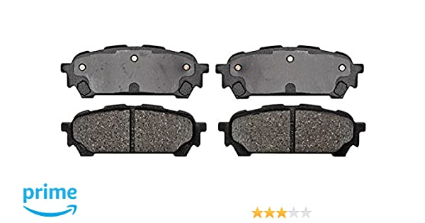 ACDelco 17D599 Professional Organic Rear Disc Brake Pad Set