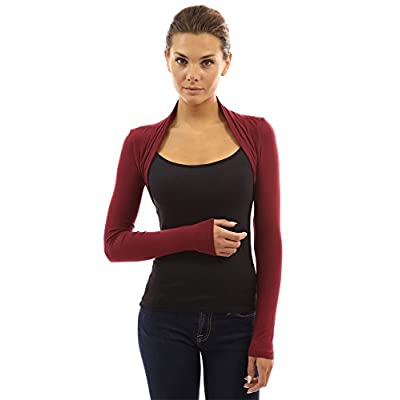 PattyBoutik Women Long Sleeve Bolero Shrug at Women's Clothing store