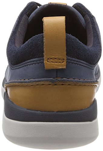 Clarks Herren Garratt Lace Sneaker Blau (Navy Nubuck)