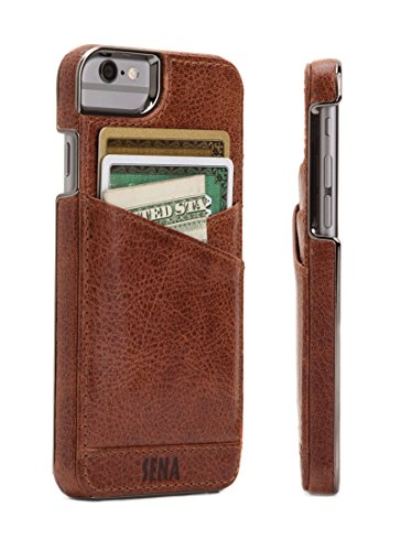 - Sena Cases Genuine Leather Lugano Wallet Iphone 8, Iphone 7, Iphone 6/6S (Cognac)