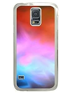 Aurora Colorful Bright Illuminance DIY Hard Shell Transparent Samsung Galaxy S5 I9600 Case Perfect By Custom Service
