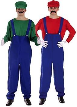 Disfraz de Mario Bros y Luigi. Carnaval. Halloween: Amazon.es ...