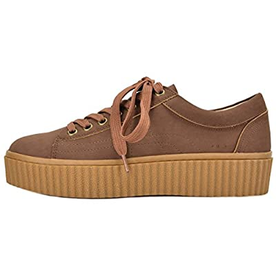TOETOS Women's REINNA-01 Casual Lace Up Fashion Sneakers Shoes | Fashion Sneakers