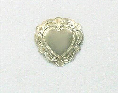 Pendant Jewelry Making/Chain Pendant/Bracelet Pendant Sterling Silver Heart Concho Charm