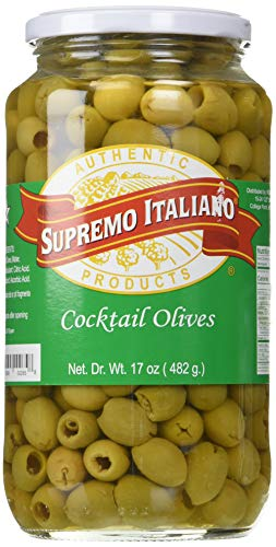 Supremo Italiano Cocktail Olives, 17 Ounce