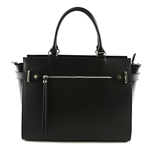 Made Colore Vera Donna In Italy Toscana Nero Pelletteria Borsa Pelle w8qZw7