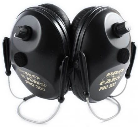 Pro Ears - Pro 300 - Behind The Head Headband - Electronic Hearing Protection and Amplification - NRR 26 - Ear Muffs - Max 5 Camo
